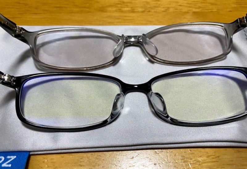 JINSとZoffのブルーカットメガネ比較